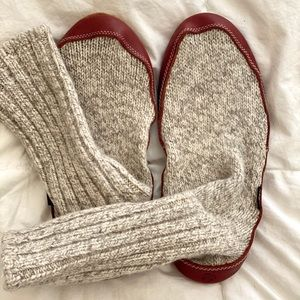 Brand new wool sock slippers!